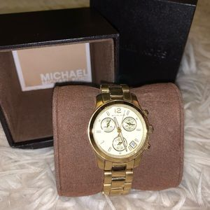 Michael Kors Gold Tone Classic Watch